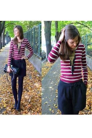 black Atmosphere bag - black H&M shorts - maroon Reporter blouse