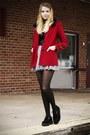 Black-tuk-shoes-ruby-red-forever-21-coat-heather-gray-forever-21-skirt