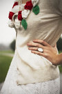 White-forever21-dress-beige-h-m-coat-red-modcloth-cardigan