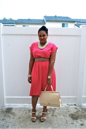 ivory Forever 21 accessories - hot pink Forever 21 dress