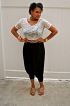 harem pants Blush Boutique pants - Forever21 top - All Saints belt