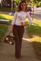 Mexx pants - le chateau shirt - Aldo necklace - vintage purse