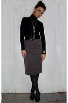 thrifted sweater - Smart Set skirt - Aldo shoes