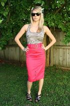 Hot Pink Pencil Skirt skirt