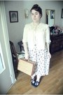Charity-shop-shoes-charity-shop-bag-charity-shop-skirt-vintage-ebay-blouse