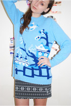 Sky-blue-unknown-brand-jumper