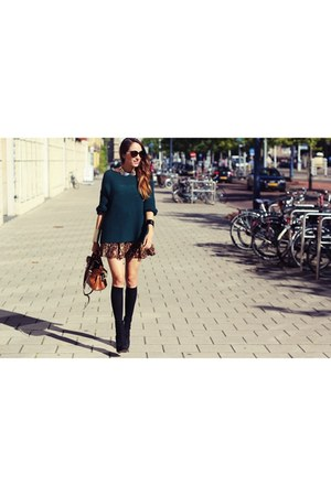 green Zara sweater