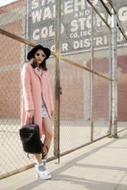 white Koshka top - light pink OASAP coat - cream 8963 zeroUV sunglasses