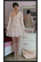 peach Takko jacket - neutral jersey lace Tally Weijl shirt