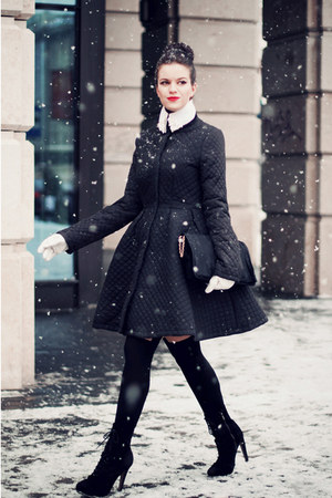 black asos coat