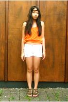 Zara top - shorts - shoes