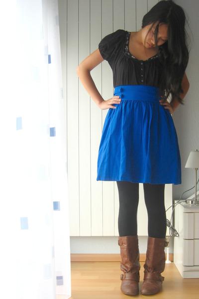 Zara shirt - H&M skirt - Akira boots