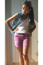 accessories - Esprit vest - Hugo Boss top - Zara shorts