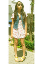 Esprit vest - H&M dress - Catwalk shoes - Ray Ban sunglasses