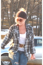 Converse jeans - white Mossimo - brown Forever 21 belt - - sunglasses - brown Ti