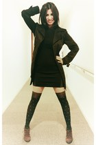 black H&M dress - black Zara coat