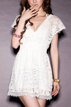 *free ship* deep V neck lace tunic mini dress boho hippie