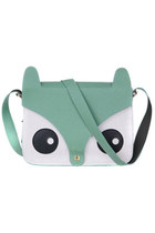 Cute retro fox shoulder satchel bag harajuku style mint