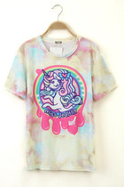 *free ship* harajuku kawaii unicorn t shirt