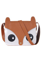 Cute retro fox shoulder satchel bag harajuku style - orange brown