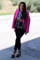 Zara blazer - H&M shirt - Zara pants - Parfois heels
