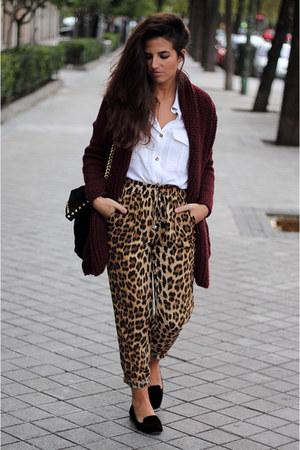 Zara bag - H&M shirt - Zara pants - Zara flats - Zara cardigan