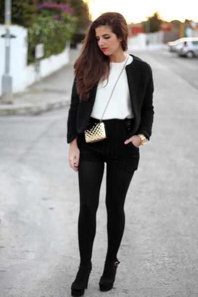 H&M jacket - Mango bag - H&M shorts - H&M jumper