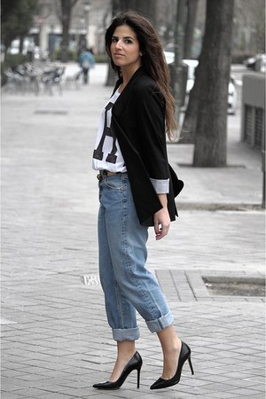 Zara blazer - Levis jeans - Zara bag - pull&amp;bear t-shirt