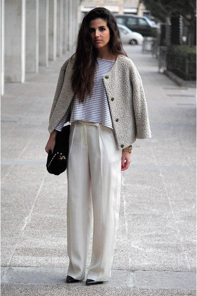 Zara jacket - Zara t-shirt - H&M pants