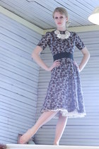 brown 1950s cotton Wallflower Vintage dress