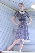 brown 1950s cotton Wallflower Vintage dress