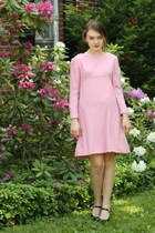 pink 1960s wool WallflowerVintagecom dress