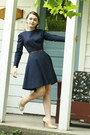 Blue-1960s-wool-wallflower-vintage-dress