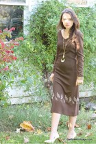 brown Wallflower Vintage dress