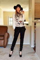 OASAP sweater - sequin Zara pants