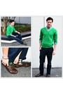 Green-jeans-navy-blazer