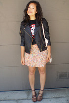 Urban Outfitters jacket - thrifted t-shirt - thrifted skirt