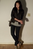 Urban Outfitters jacket - calvin klein top - Ninas jeans - Hand It Over vest
