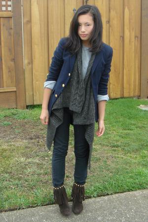 Ralph Lauren blazer - BCBG vest - urban original shoes - Levis jeans