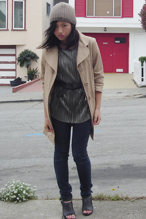 Nordstrom Rack coat - vintage blouse - Ninas jeans - Star Ling shoes