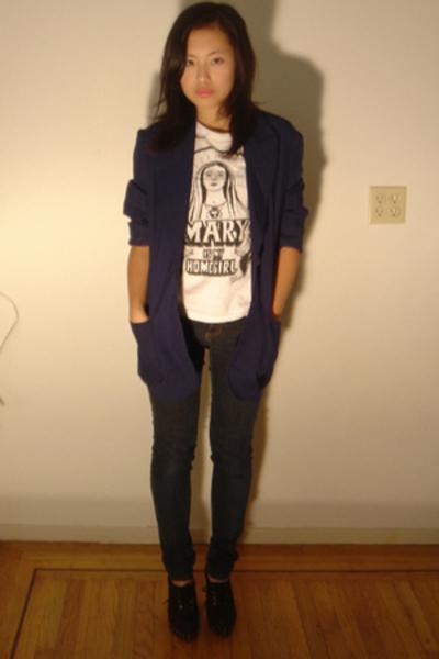 Hand It Over blazer - Ninas jeans - Buffalo Exchange t-shirt