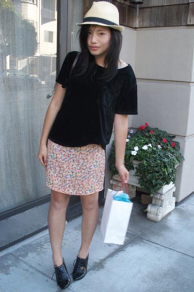 forever 21 hat - Gap t-shirt - thrifted skirt - Steve Madden shoes