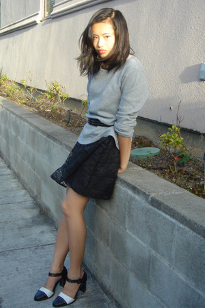 calvin klein sweater - Ross belt - homemade dress - thrifted shoes
