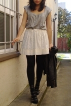 Urban Outfitters dress - Urban Outfitters jacket - homemade skirt - Nine West sh