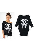 DRIPPING CC LOGO DOLMAN TOP