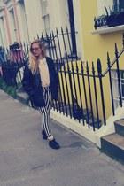 Primark sweater - creepers shoes - vintage jacket - Primark bag - H&M pants