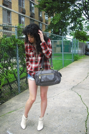 vintage shirt - Nine West purse - Kors by Michael Kors boots