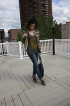vintage blazer - brooklyn industriies top - DSW shoes