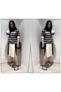 Stella McCartney skirt - Preen x Aldo shoes - striped American Eagle sweater