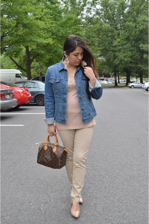Levis jacket - Louis Vuitton bag - Zara pants - BCBG pumps